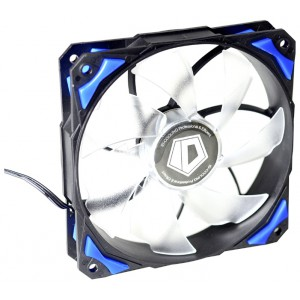 Вентилятор для корпуса ID-Cooling PL-12025-B (120x120x25mm, 600~2200±10% rpm, 14-35.5 dBi, 4pin, LED, Blue)