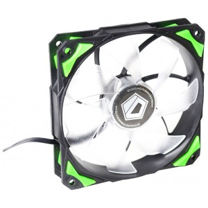 Вентилятор для корпуса ID-Cooling PL-12025-G (120x120x25mm, 600~2200±10% rpm, 14-35.5 dBi, 4pin, LED, Green)