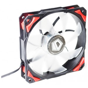 Вентилятор для корпуса ID-Cooling PL-12025-R (120x120x25mm, 600~2200±10% rpm, 14-35.5 dBi, 4pin, LED, Red)