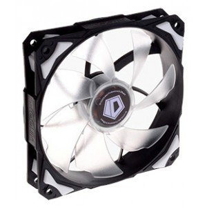 Вентилятор для корпуса ID-Cooling PL-12025-W (120x120x25mm, 600~2200±10% rpm, 14-35.5 dBi, 4pin, LED, White)