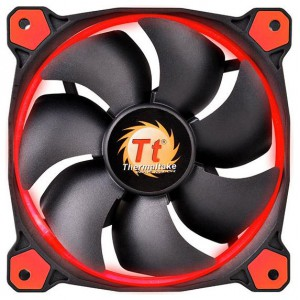 Вентилятор для корпуса Thermaltake Riing 12 LED Red, CL-F038-PL12RE-A, 3pin, 120x120mm, 24.6dBi, 1500 rpm