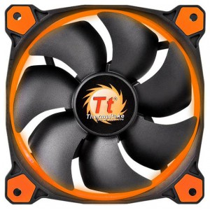 Вентилятор для корпуса Thermaltake Riing 14 LED Orange, CL-F039-PL14OR-A, 3pin, 140x140mm, 28.1dBi, 1400 rpm