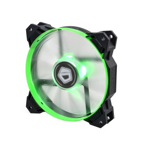 Вентилятор для корпуса ID-Cooling SF-12025-G (120x120x25mm, 800~2000±10% rpm, 14-35.5 dBi, 4pin, LED, Green)