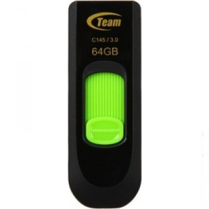 USB Flash drive 64Gb Team Group C145 TC145364GG01 Black/Green USB30