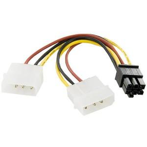 Адаптер для питания видеокарты 2xMolex - VGA 6-pin