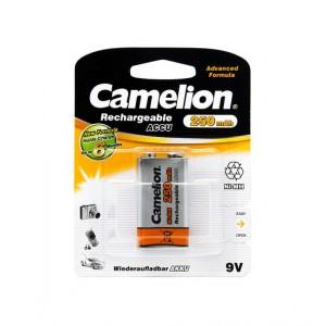 Батарейка аккумуляторная CAMELION 6F22 NH-9V250BP1 Rechargeable  9V 1шт