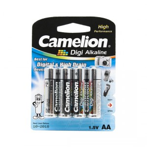 Батарейка CAMELION AA LR6 LR6-BP4DG Digi Alkaline 15V 4шт