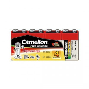 Батарейка CAMELION 6F22 6LR61-SP4 Plus Alkaline  9V 4шт