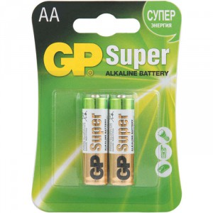 Батарейка GP AA LR6 15A-CR2 Super Alkaline 15V 2шт