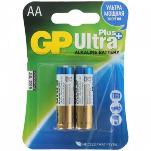 Батарейка GP AA LR6 15AUP-CR2 Ultra Plus Alkaline 15V 2шт