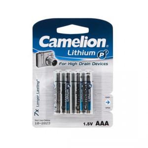 Батарейка CAMELION AAA FR03 FR03-BP4 Lithium P7 15V 4шт