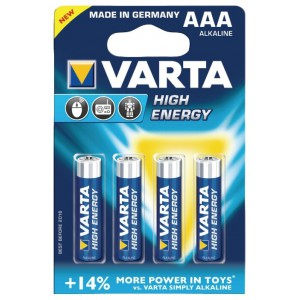 Батарейка VARTA AAA LR03 High Energy 4903-4 15V 4шт