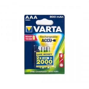 Батарейка аккумуляторная VARTA AAA HR03 Recharge ACCU Power 56703-2 12V/800mAh 2шт