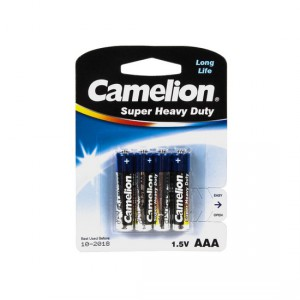 Батарейка CAMELION AAA LR03 R03P-BP4B Super Heavy Duty 15V 4шт