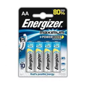 Батарейка Energizer AA LR6 E301036900 MAXIMUM POWER FSB4 3+1 15V 4шт