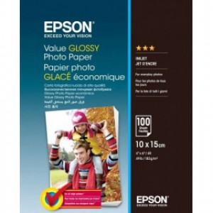 Бумага Epson Value Glossy Photo Paper 10x15cm C13S400039