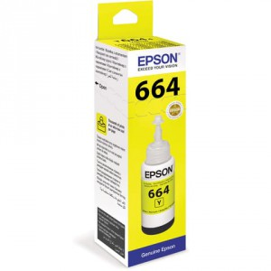 Чернила Epson C13T66444A L100 Yellow ink bottle 70ml