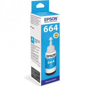 Чернила Epson C13T66424A L100 Cyan ink bottle 70ml