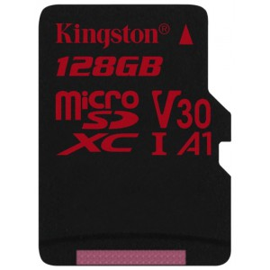Карта памяти microSDXC 128Gb Kingston Canvas React  U3 UHS-I + SD Adapter SDCR/128GB