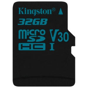Карта памяти microSDXC 32Gb Kingston Canvas Go U3 UHS-I SD Adapter SDCG2/32GB