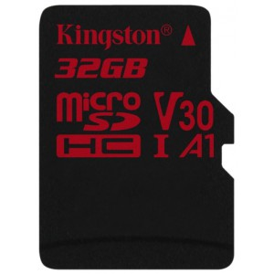 Карта памяти microSDXC 32Gb Kingston Canvas React  U3 UHS-I SDCR/32GBSP