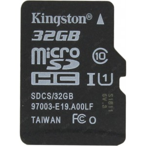 Карта памяти microSDHC 32Gb Kingston Canvas Select 80R Class 10 UHS-I SDCS/32GBSP