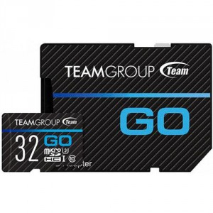 Карта памяти microSD 32Gb Team Group Go U3 + SD Adapter TGUSDH32GU303