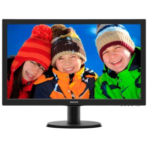 Монитор 236 PHILIPS 243V5QHSBA/01 Black