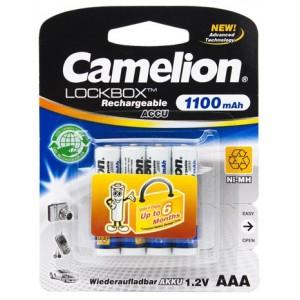 Батарейка аккумуляторная CAMELION AAA NH-AAA1100LBP4 Lockbox Rechargeable 12V 4шт