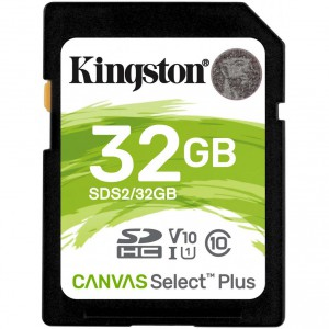 Флеш карта SD 32Gb Kingston Canvas Select Plus SDXC SDS2/32GB