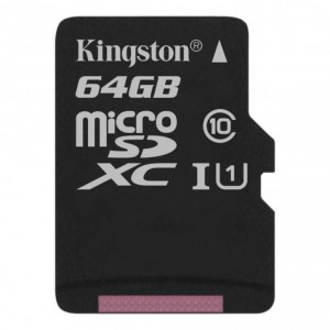 Карта памяти microSD 64Gb Kingston Canvas Select Plus SDCS2/64GBSP