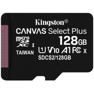 Флеш карта microSD 128Gb Kingston Canvas Select Plus SDCS2/128GB