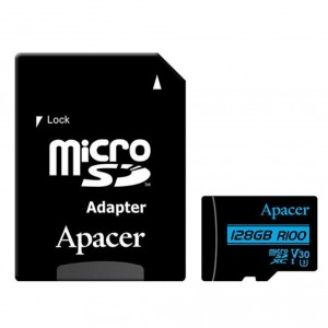 Карта памяти microSDXC 128Gb Apacer Class10 + адаптер 100R/80W AP128GMCSX10U7-R