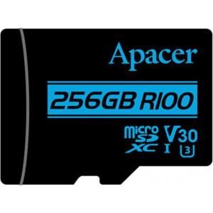 Карта памяти microSDXC 256Gb Apacer Class10 + адаптер AP256GMCSX10U7-R