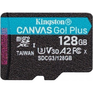 Карта памяти microSDXC 128Gb Kingston Canvas Go! Plus SDCG3/128GB