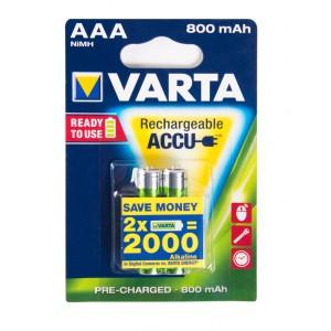 Батарейка аккумуляторная VARTA AAA HR03 56703 800 mAh 2шт