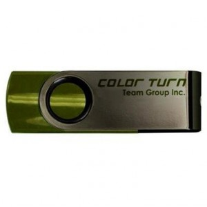 USB Flash drive 16Gb Team Group E902 TE90216GG01 Silver/Green USB20