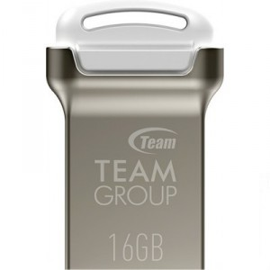 USB Flash drive 16Gb Team Group C161 TC16116GW01 Silver/White USB20