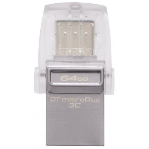 USB Flash drive 64Gb Kingston DataTraveler microDuo DTDUO3C/64GB Silver USB 31 Gen1