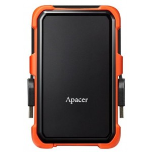 Внешний HDD 1Tb Apacer AP1TBAC630T-1 Black/Orange