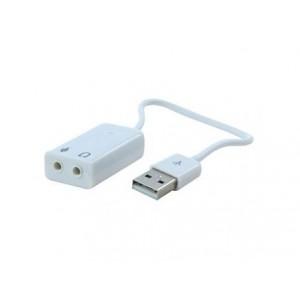 Звуковая карта USB 71 Noname White кабель 10 см